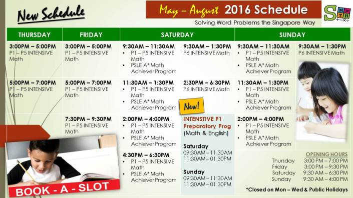 2- May - August Schedule